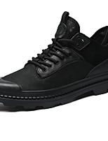 Недорогие -Муж. Кожаные ботинки Кожа Осень Винтаж / На каждый день Кеды Массаж Черный