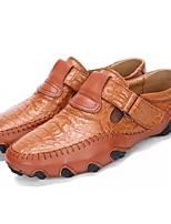baratos -Homens Sapatos Confortáveis Couro Ecológico Outono Oxfords Preto / Marron