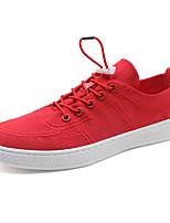 Недорогие -Муж. Комфортная обувь Трикотаж / Полотно Осень Кеды Черный / Серый / Красный