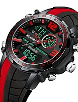 Недорогие -Муж. Спортивные часы Японский Японский кварц 30 m ЖК экран С двумя часовыми поясами Фосфоресцирующий силиконовый Группа Аналого-цифровые На каждый день Мода Красный / Желтый / Небесно-голубой -