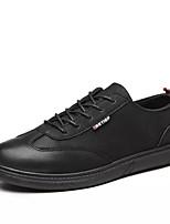 Недорогие -Муж. Комфортная обувь Полиуретан Осень Кеды Черный / Коричневый / Верблюжий