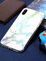 abordables -Coque Pour Apple iPhone XR / iPhone XS Max Plaqué / Motif Coque Marbre Flexible TPU pour iPhone XS / iPhone XR / iPhone XS Max