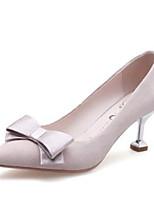 Недорогие -Жен. Балетки Замша Лето Обувь на каблуках На шпильке Черный / Розовый / Миндальный