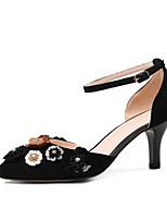 Недорогие -Жен. Комфортная обувь Замша Весна Обувь на каблуках На шпильке Черный / Серый / Розовый