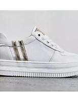 baratos -Mulheres Sapatos Confortáveis Sintéticos Primavera & Outono Tênis Sem Salto Branco / Prata / Branco / Amarelo
