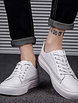 Недорогие -Муж. Комфортная обувь Микроволокно Лето Кеды Белый / Черный / Красный