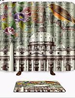 baratos -Tradicional Tapetes Anti-Derrapantes Poliéster Elástico Tricotado 100g / m2 Criativo Retângular Banheiro espessamento