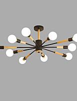 billiga -10-Light Sputnik Ljuskronor Glödande Målad Finishes Metall Trä / Bambu Kreativ 110-120V / 220-240V Glödlampa inte inkluderad / SAA