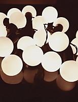 abordables -5m Guirlandes Lumineuses 20 LED Blanc Chaud Décorative 220-240 V 1 set