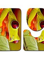 Недорогие -3 предмета Мультяшная тематика Коврики для ванны 100 г / м2 полиэфирный стреч-трикотаж Животное Прямоугольная Ванная комната Милый