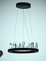 baratos -VALLKIN Circular Lustres Luz Ambiente Acabamentos Pintados Metal Cristal, Ajustável 110-120V / 220-240V Dimmable Com Controle Remoto