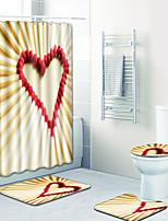 Недорогие -1 комплект Modern Коврики для ванны 100 г / м2 полиэфирный стреч-трикотаж Цветочный принт Прямоугольная Ванная комната Творчество