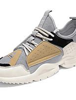 Недорогие -Универсальные Обувь Bullock Эластичная ткань Весна & осень На каждый день Кеды Дышащий Черный / Серый / Синий
