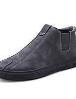 Недорогие -Муж. Комфортная обувь Полиуретан Весна & осень На каждый день Кеды Доказательство износа Черный / Серый