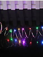 abordables -1.5m Guirlandes Lumineuses 15 LED Plusieurs Couleurs Décorative Piles AA alimentées 1 set
