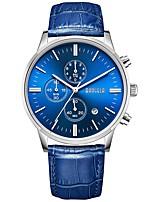 Недорогие -BAOGELA Спортивные часы излучатели Календарь, Секундомер, Cool Черный и золотой / Серебристый / Синий / Японский / Натуральная кожа / Японский