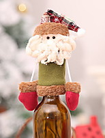 Недорогие -Мешки для вина Праздник Полиэстер куб Оригинальные Рождественские украшения