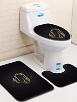 Недорогие -Modern Коврики для ванны 100 г / м2 полиэфирный стреч-трикотаж Креатив Прямоугольная Ванная комната Очаровательный
