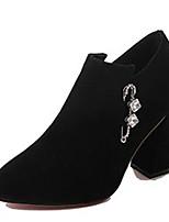Недорогие -Жен. Fashion Boots Полиуретан Осень Минимализм Ботинки На толстом каблуке Заостренный носок Ботинки Черный / Коричневый / Хаки