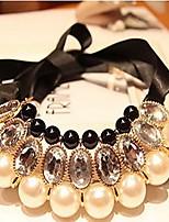 abordables -Femme Classique Colliers Déclaration - Résine Noir 92 cm Colliers Tendance Bijoux 1pc Pour Mariage, Festival
