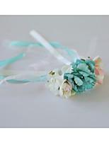 Недорогие -Свадебные цветы Букетик на запястье Свадьба / Свадебные прием Шелковый Как атласные / Кружево 0-10 cm