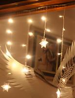 Недорогие -1,5 м Гирлянды 48 светодиоды Тёплый белый Декоративная 220-240 V 1 комплект