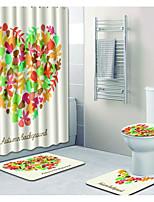 Недорогие -1 комплект Modern Коврики для ванны 100 г / м2 полиэфирный стреч-трикотаж Цветочный принт Прямоугольная Ванная комната Милый