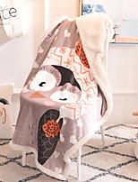 Недорогие -Фланель, Активный краситель Мультипликация Фланель Флис одеяла