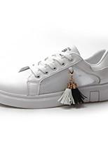 Недорогие -Жен. Комфортная обувь Полиуретан Лето Кеды На плоской подошве Закрытый мыс Черный / Розовый