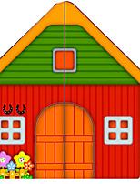 Недорогие -Конструкторы Вид на город Cool утонченный деревянный Игрушки Подарок 1 pcs