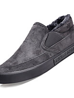 Недорогие -Муж. Комфортная обувь Полиуретан Осень На каждый день Мокасины и Свитер Нескользкий Черный / Серый