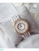 Недорогие -Жен. Наручные часы Кварцевый Имитация Алмазный Группа Аналого-цифровые Мода Белый - Серебряный Розовое золото / Нержавеющая сталь