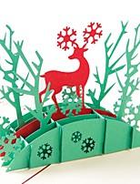 abordables -Merci Cartes Papier durci Décorations de Mariage Noël / Fête / Soirée Noël / Cerf / Créatif Toutes les Saisons