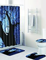 Недорогие -1 комплект Modern Коврики для ванны 100 г / м2 полиэфирный стреч-трикотаж Новинки Прямоугольная Ванная комната Творчество / Cool