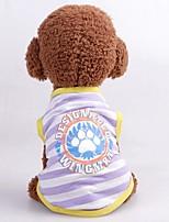 baratos -Cachorros / Gatos Colete Roupas para Cães Bordados Elegantes / Personagem / Carta e Número Roxo / Fúcsia / Azul Terylene Ocasiões Especiais Para animais de estimação Unisexo Casual / Estilo simples