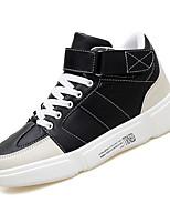 abordables -Homme Chaussures de confort Cuir / Polyuréthane Automne Décontracté Basket Ne glisse pas Blanc / Noir / Rouge