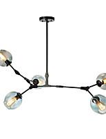 Недорогие -5-head северная европейская современная мозаика стекла канделябра винтажные подвесные светильники гостиная спальня столовая