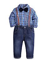 Недорогие -Дети / Дети (1-4 лет) Мальчики Гусиная лапка Длинный рукав Набор одежды