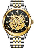 Недорогие -Angela Bos Муж. Механические часы С автоподзаводом 30 m Защита от влаги Повседневные часы Нержавеющая сталь Группа Аналоговый На каждый день Мода Золотистый -