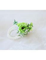 Недорогие -Свадебные цветы Букетик на запястье Свадьба / Свадебные прием Бусины / Ткань 0-10 cm