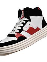 Недорогие -Муж. Комфортная обувь Полиуретан Осень На каждый день Кеды Нескользкий Контрастных цветов Белый / Черный