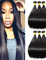 abordables -6 offres groupées Cheveux Malaisiens Droit Cheveux humains Tissages de cheveux humains / Extension / Bundle cheveux 8-28 pouce Couleur naturelle Tissages de cheveux humains Fabriqué à la machine