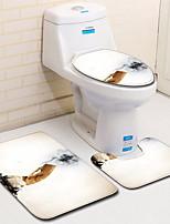 Недорогие -3 предмета Сам колготки / Традиционный Коврики для ванны 100 г / м2 полиэфирный стреч-трикотаж Креатив Прямоугольная Ванная комната Легко очистить
