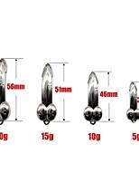 Недорогие -5 pcs Жесткая наживка / Металлическая наживка / Рыбалка Инструменты Жесткая наживка сплав цинка Легко для того чтобы снести / Легкий и удобный Морское рыболовство / Ловля на приманку / Спиннинг