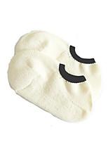 Недорогие -1 пара Жен. Носки Standard Однотонный Дезодорант / Спортивный Простой стиль Хлопок EU36-EU42