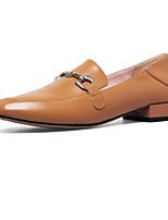 Недорогие -Жен. Комфортная обувь Наппа Leather Лето На плокой подошве На плоской подошве Черный / Коричневый / Миндальный