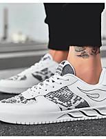Недорогие -Муж. Комфортная обувь Сетка Весна & осень Кеды Белый / Черный / Черный / Красный