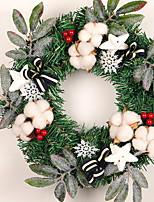 abordables -Guirlandes Noël Plastique Circulaire Nouveautés Décoration de Noël