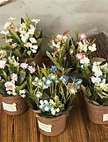 Недорогие -Искусственные Цветы 1 Филиал Классический Деревня / Ретро Хризантема / Ваза Букеты на стол