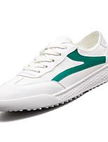Недорогие -Муж. Комфортная обувь Полотно / Полиуретан Лето Кеды Белый / Черно-белый / Wit En Groen